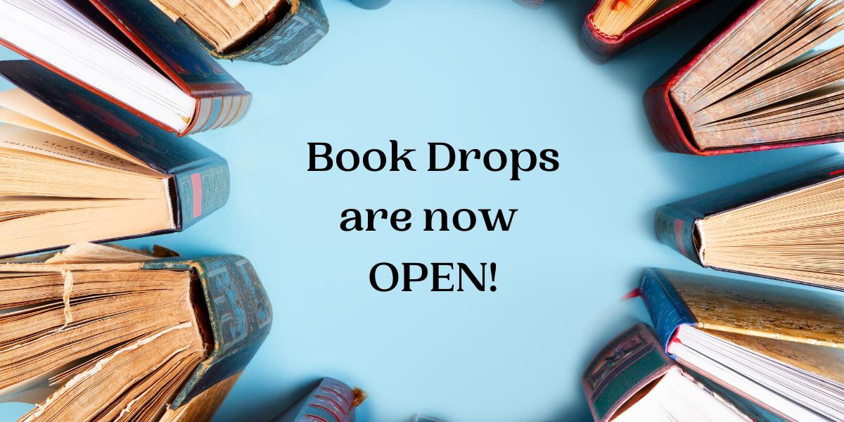 book drops open
