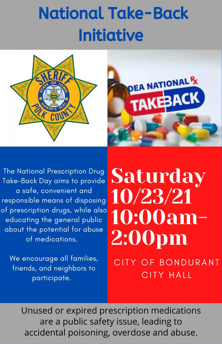 the National DEA Drug Take Back