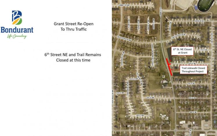 Grant St Re Opening Map